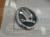 Эмблема шильдик логотип Skoda 5jA853621 на багажник 90 мм