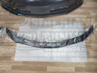 Дефлектор капота черный (спойлер, мухобойка) на Toyota Camry V70 2017+