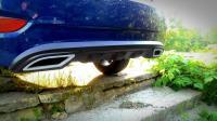 Накладка на задний бампер Диффузор Hyundai Solaris 2010+ (тиснение)