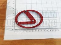 Эмблема шильдик логотип Lexus с клеевой основой 97х70 мм