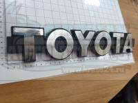 Эмблема шильдик надпись Toyota большая на решетку 385х65 мм