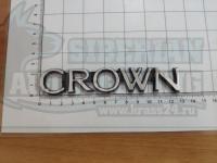 Шильдик с клеевой основой Crown карбид на багажник 125*23мм
