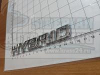 Шильдик с клеевой основой Hybrid хром на багажник 150*25мм