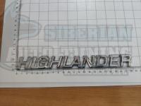 Шильдик с клеевой основой Highlander хром на багажник 220*25мм