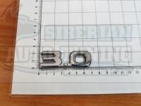 Шильдик с клеевой основой 3.0 хром на багажник 70*33мм
