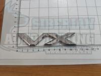 Шильдик с клеевой основой Prado VX хром на багажник 110*25мм