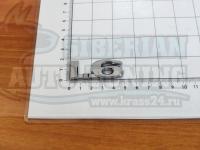 Шильдик с клеевой основой 1.6 хром на багажник 47*17мм