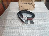 Универсальный лип спойлер с двойным скотчем 3М Samurai Черный 3*1.5м