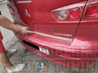 Накладка на кромку задней двери багажника Mitsubishi Lancer 2007-2016
