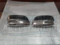 Хромированные накладки на боковые зеркала с вырезом под повторитель Land Cruiser 200 2007-2019