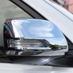Хромированные накладки на боковые зеркала с вырезом под повторитель Toyota LC Prado 150 2009-2019