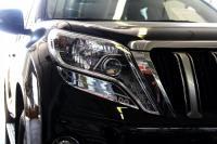 Хромированные накладки под фары Toyota LC Prado 150 2014-2017