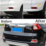 Хромированные накладки на задние туманки Honda CR-V 2015-2017