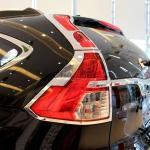 Хромированные накладки на задние фонари Honda CR-V 2013-2017