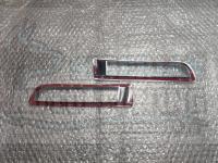 Хромированные накладки на задние туманки Mitsubishi Lancer 10 2007-2016