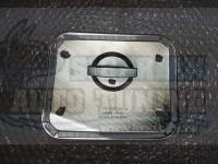 Хромированная накладка на лючок бензобака Nissan X-trail 2014-2017 T32