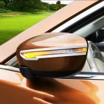 Хромированные накладки на боковые зеркала узкие Nissan X-trail 2014-2017 T32