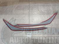 Реснички на фары Honda CR-V 2012-2017, накладки на фары