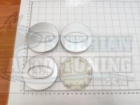 Ступичные колпачки ЦО Kia серебро 78 мм (Цена за 4шт)