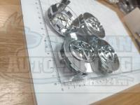 Ступичные колпачки ЦО Toyota 62 мм (Цена за 4шт)