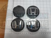 Ступичные колпачки ЦО Honda черные 3D 69 мм черные (Цена за 4шт)