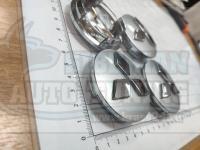 Ступичные колпачки ЦО Mitsubishi серебро 60 мм черные (Цена за 4шт)