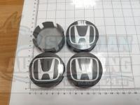 Ступичные колпачки ЦО Honda черные 58 мм черные (Цена за 4шт)