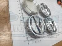 Ступичные колпачки ЦО Acura серебро 3D 62 мм черные (Цена за 4шт)