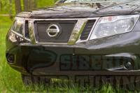 Защитная сетка и зимняя заглушка решеток радиатора и переднего бампера Nissan Terrano 2014-2015