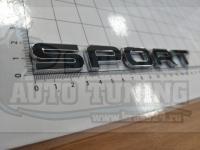 Надпись на багажник Sport для Land Rover Range черный 170*20