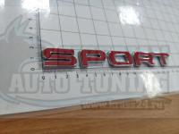 Надпись на багажник Sport для Land Rover Range красный 170*20