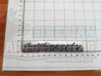 Надпись на багажник Autobiography для Land Rover Range серебро 110*19