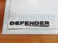 Надпись на багажник Defender черная для Land Rover Range 250*35