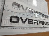 Надпись на капот Overfinch для Land Rover Range 390*30