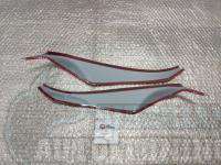 Реснички на фары Nissan Almera 2012+, накладки на фары