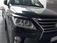 Реснички на фары Lexus LX570 2012-2015 рестайлинг накладки на фары
