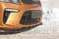 Усиленный 3мм Сплиттер переднего бампера KIA Rio IV (седан) 2017-