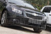 Реснички фигурные на фары Chevrolet Cruze I 2009-2014, накладки на фары