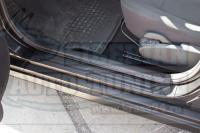 Накладки на внутренние пороги дверей Nissan Almera 2014- кузов G15