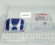 Синяя эмблема Type R H 123x99 мм для автомобилей Honda 75700-S5T-E01