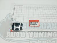 Черная эмблема Type R H для автомобилей Honda 75701-S1A-E11ZB 80x65