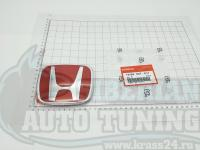 Красная эмблема Type R H для автомобилей Honda 75700-S5T-E11 113x92