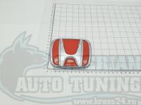 Красная эмблема H 3D для автомобилей Honda 112x93 мм