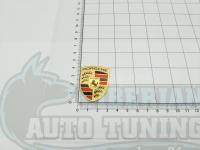 Эмблема шильдик на капот Porsche 42*32