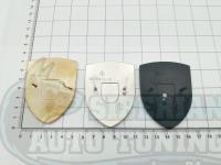 Эмблема шильдик на капот Porsche черный 67*50