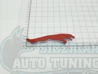 Эмблема шильдик с клеевой основой Jaguar 133х32 мм