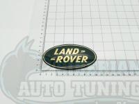Эмблема шильдик на капот Land Rover зеленый-золотой 105*53
