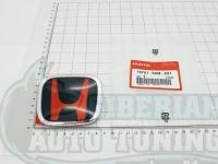 Черно-красная эмблема Type R H для автомобилей Honda 75701-S6M-Z01 86*70