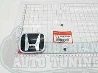 Черная эмблема Type R H для автомобилей Honda 75700-SNW-003ZC 95*77