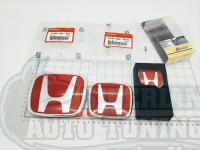 Комплект Красных эмблем Type R H для автомобилей Honda Accord 8/Civic 8 4D